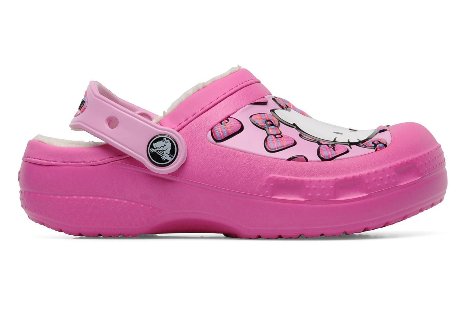 Sandals Crocs Creative Crocs Hello Kitty Bow Lined Clog Pink back view