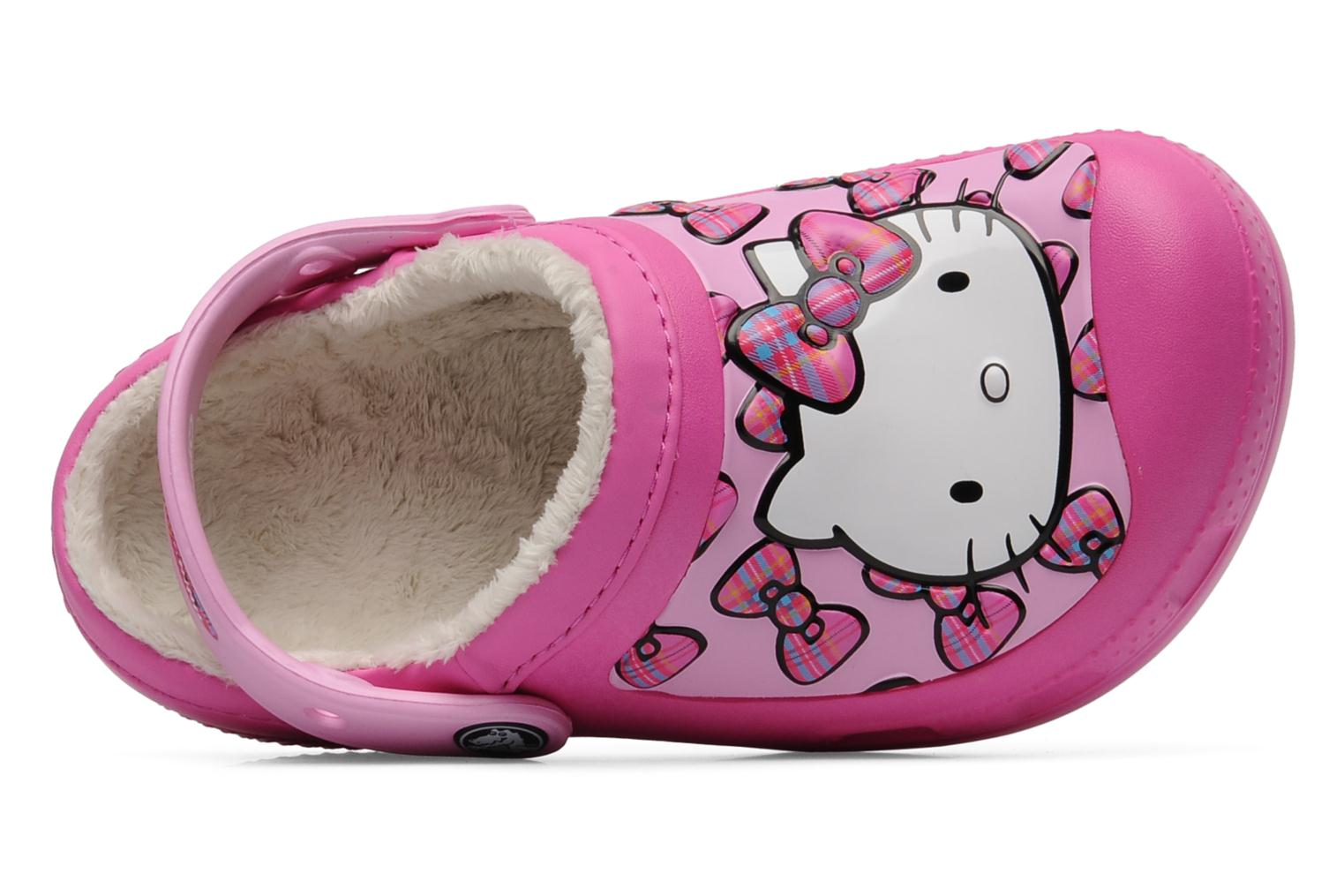 Sandals Crocs Creative Crocs Hello Kitty Bow Lined Clog Pink view from the left
