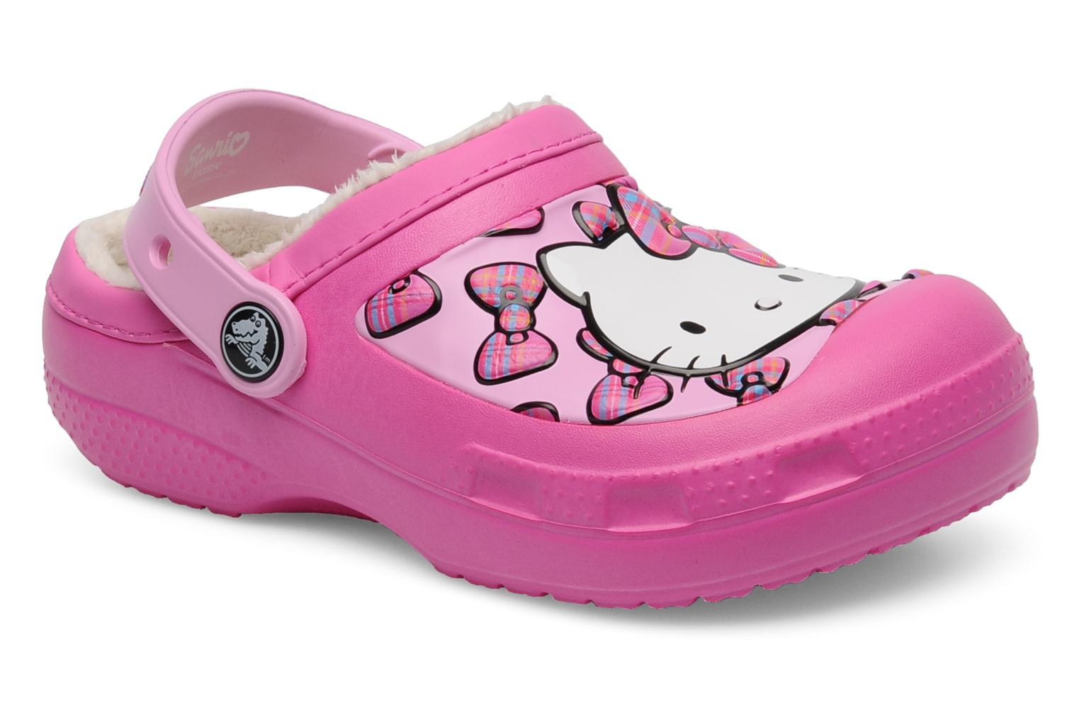 Sandals Crocs Creative Crocs Hello Kitty Bow Lined Clog Pink detailed view/ Pair view