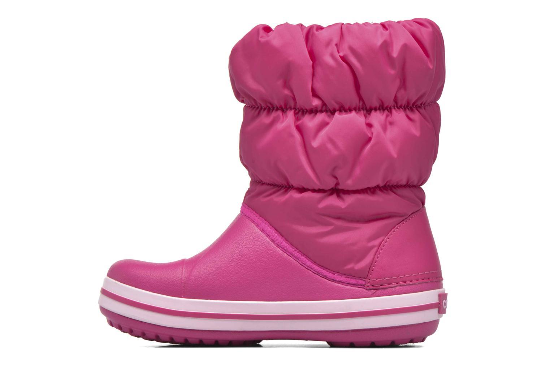 Boots en enkellaarsjes Crocs Winter Puff Boot Kids Roze voorkant