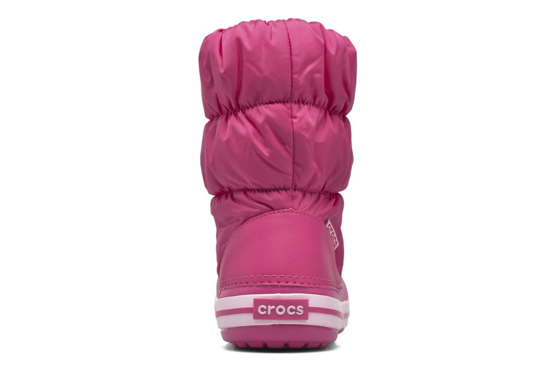 Boots en enkellaarsjes Crocs Winter Puff Boot Kids Roze rechts