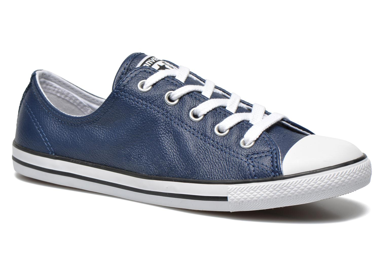 converse bleu cuir