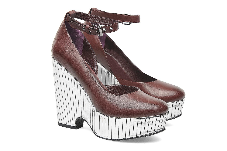 High heels Opening Ceremony Bellagio Platform Burgundy 3/4 view