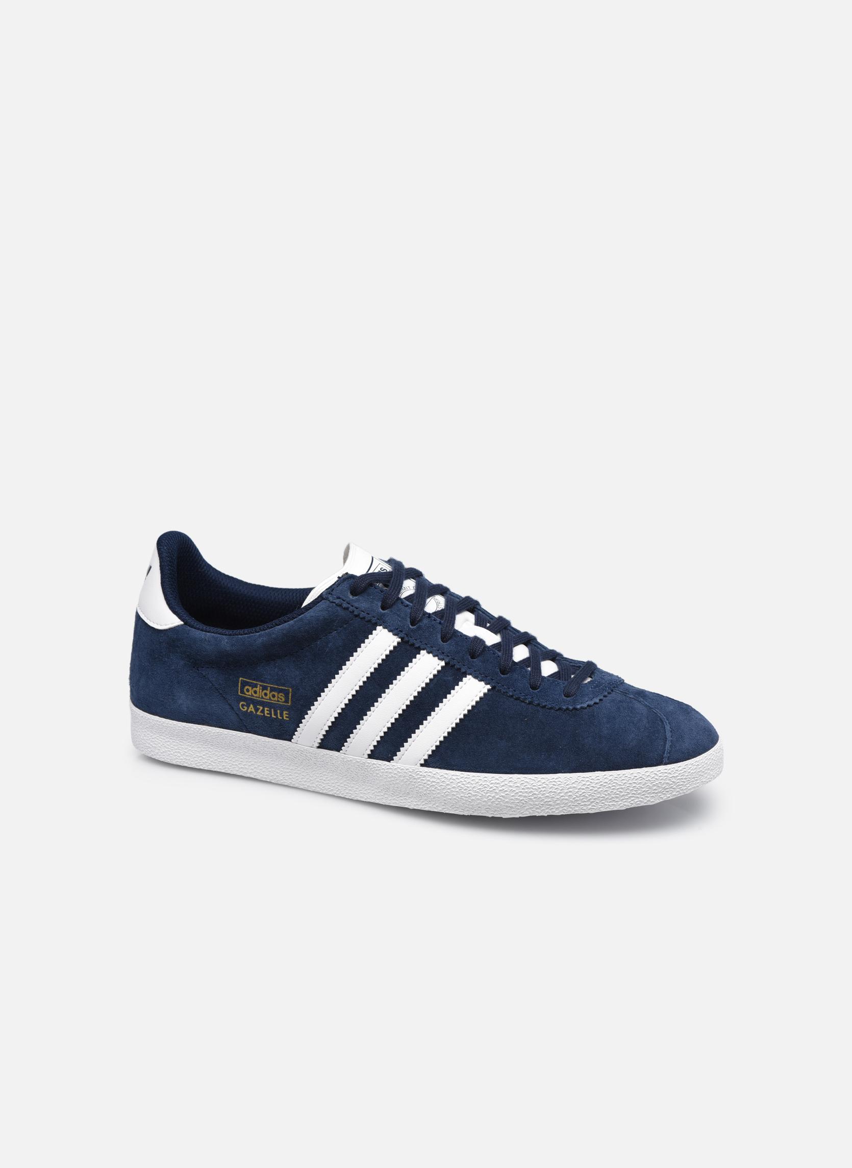 Sneakers Adidas Originals Gazelle Og Blauw detail