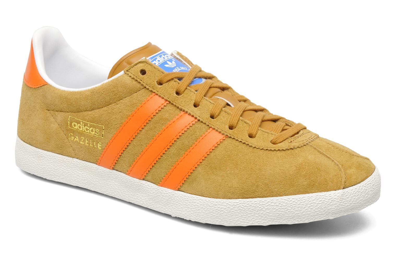 adidas gazelle og wheat orange
