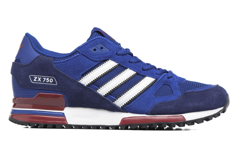 Sneakers Adidas Originals Zx 750 Blauw achterkant