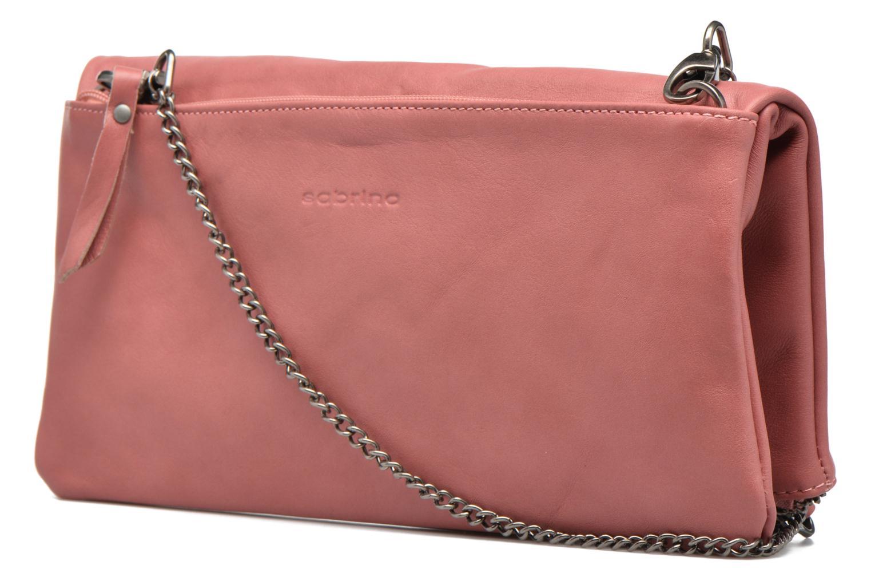 Handtaschen Sabrina Léonie rosa ansicht von rechts
