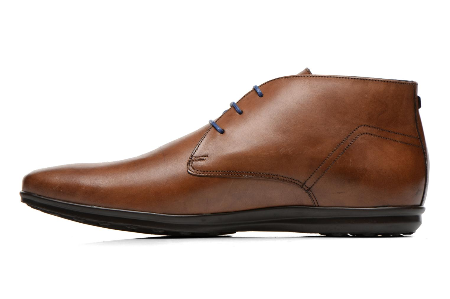 Lace-up shoes Azzaro Brisse Brown front view