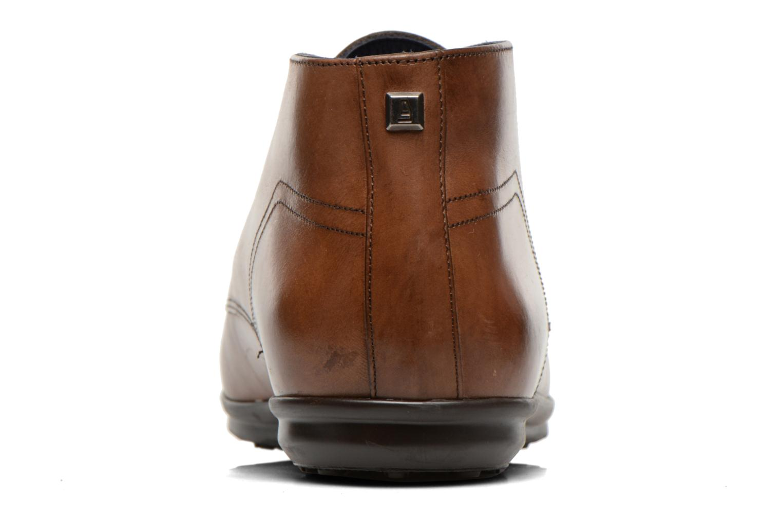 Lace-up shoes Azzaro Brisse Brown view from the right