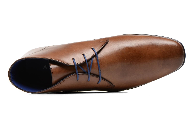 Schnürschuhe Azzaro Brisse braun ansicht von links
