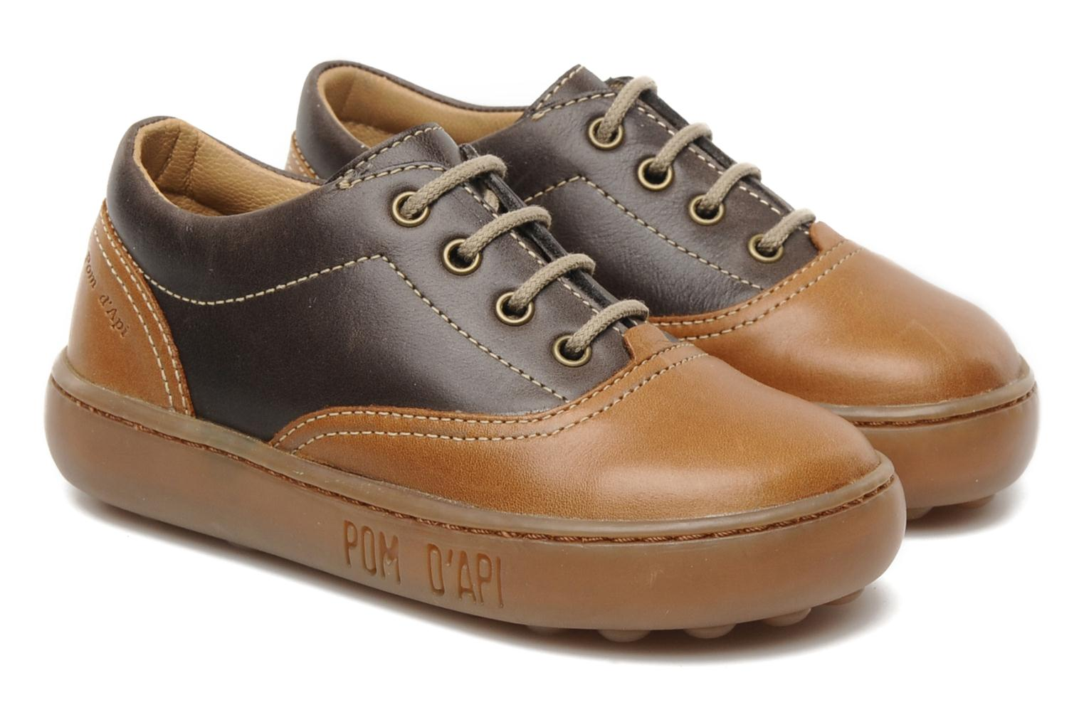 Lace-up shoes Pom d Api Walk CVO Brown 3/4 view