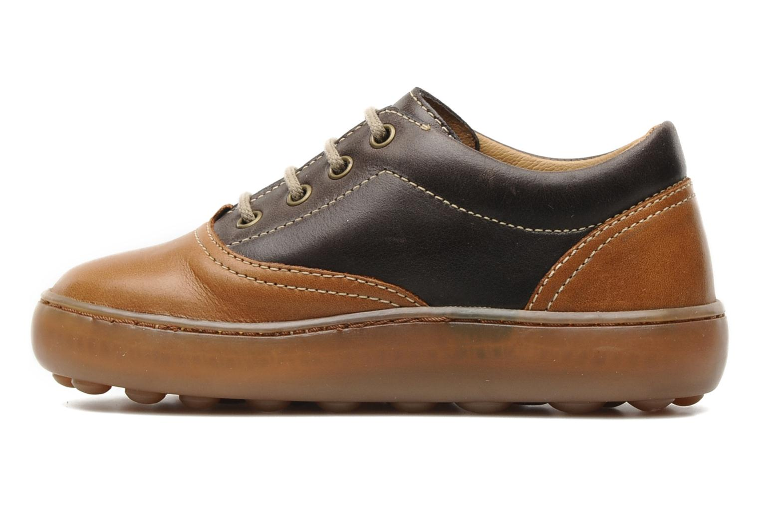 Lace-up shoes Pom d Api Walk CVO Brown front view