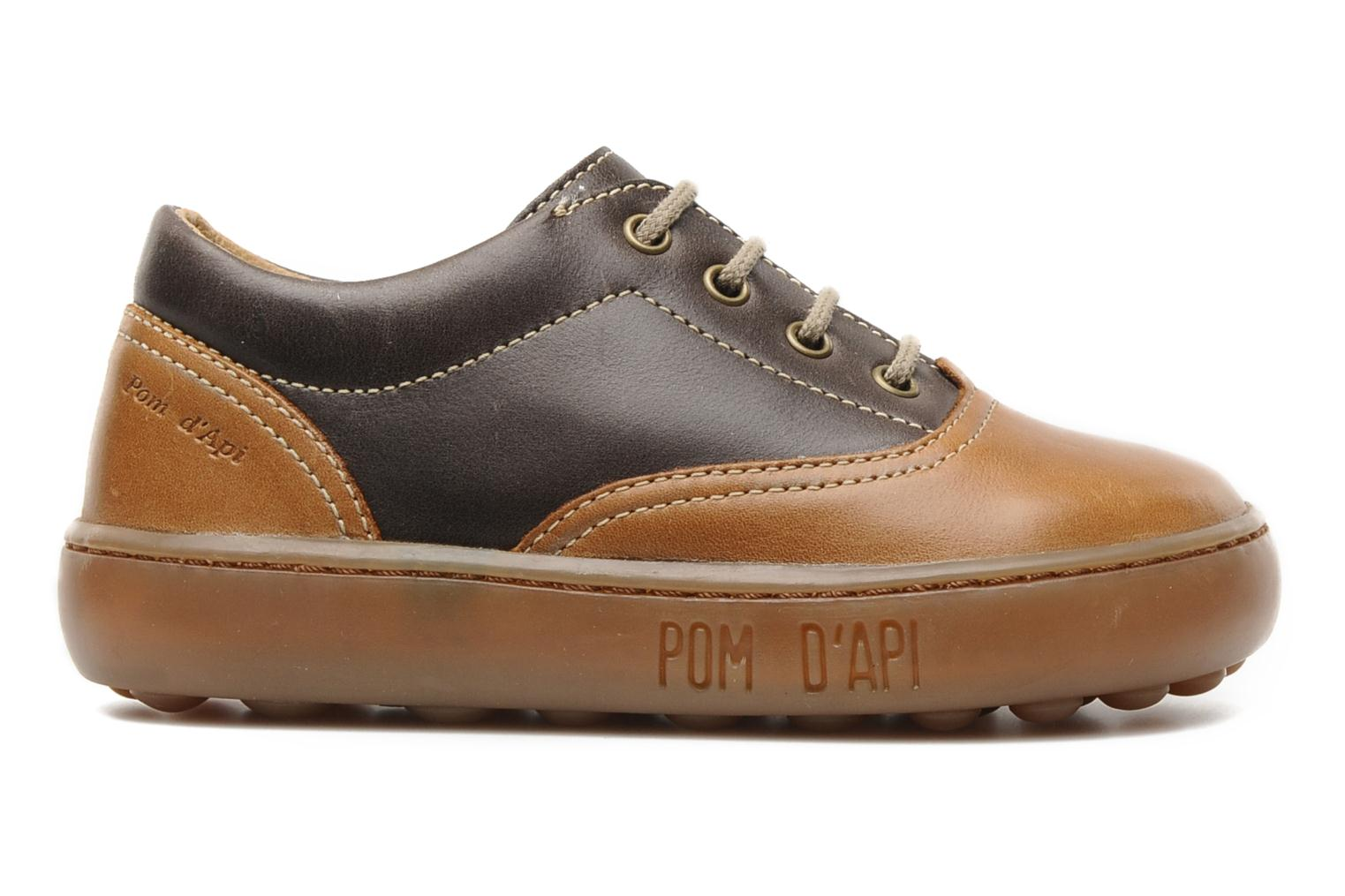 Lace-up shoes Pom d Api Walk CVO Brown back view