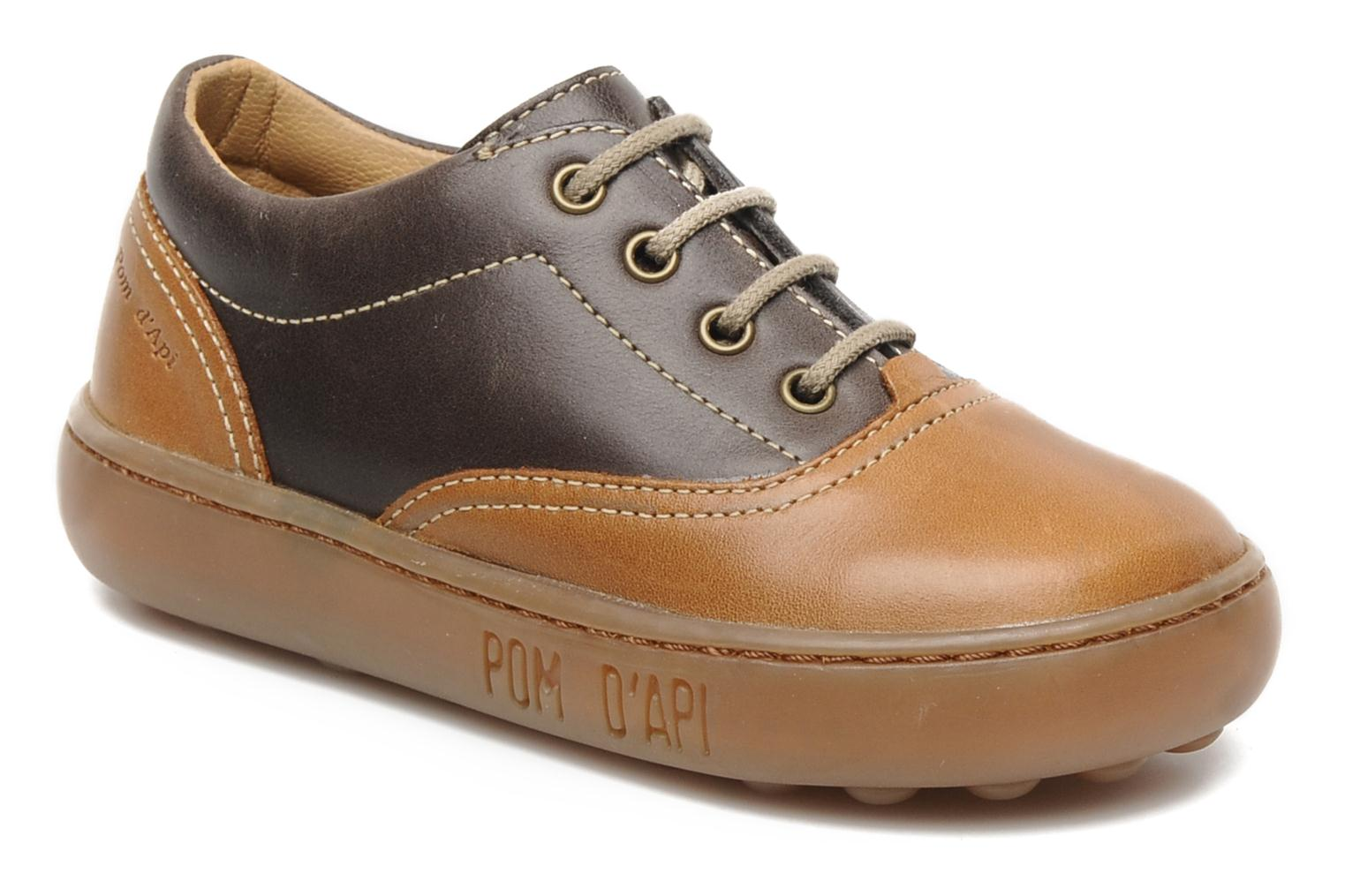 Lace-up shoes Pom d Api Walk CVO Brown detailed view/ Pair view