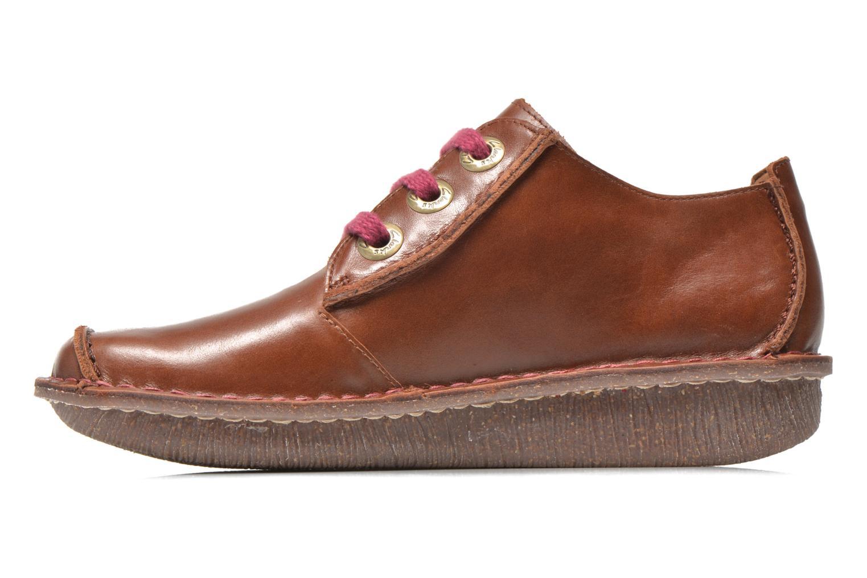 Snörade skor Clarks Funny Dream Brun bild från framsidan