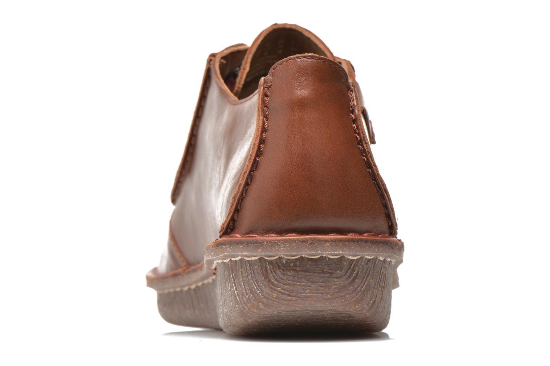 Snörade skor Clarks Funny Dream Brun Bild från höger sidan