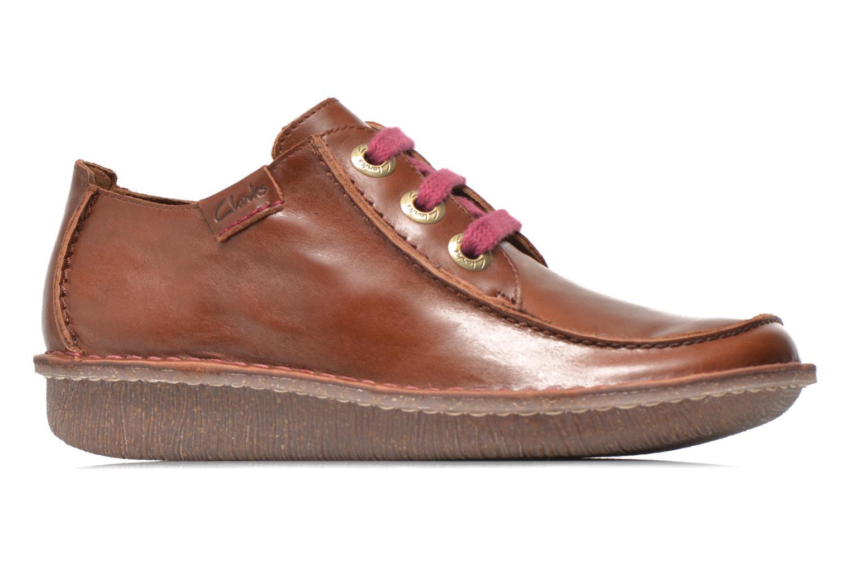 Snörade skor Clarks Funny Dream Brun bild från baksidan