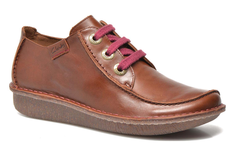 Zapatos con cordones Clarks Funny Dream Marrón vista de detalle / par