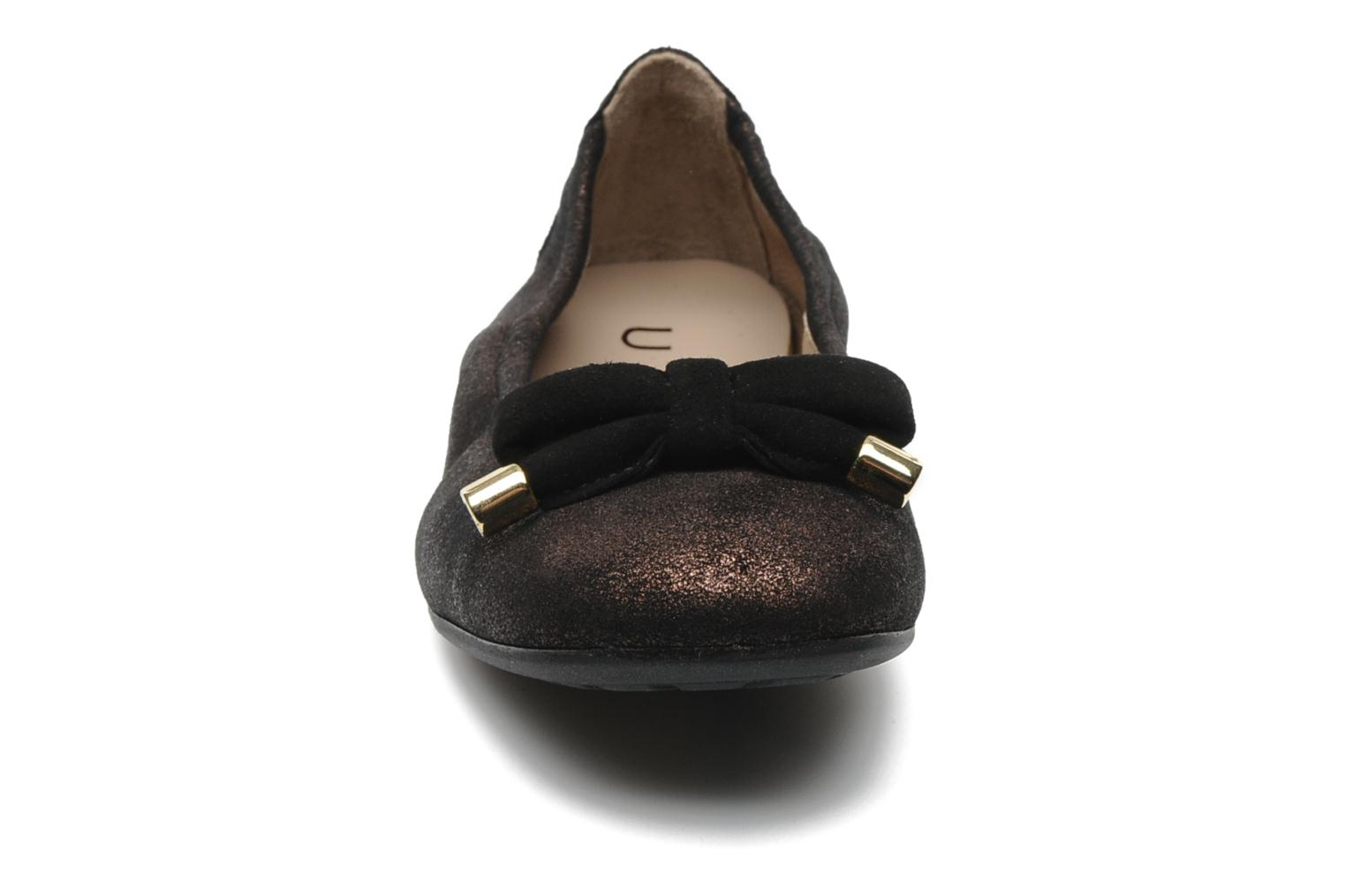 Ballet pumps Unisa Buffy Bronze and Gold model view