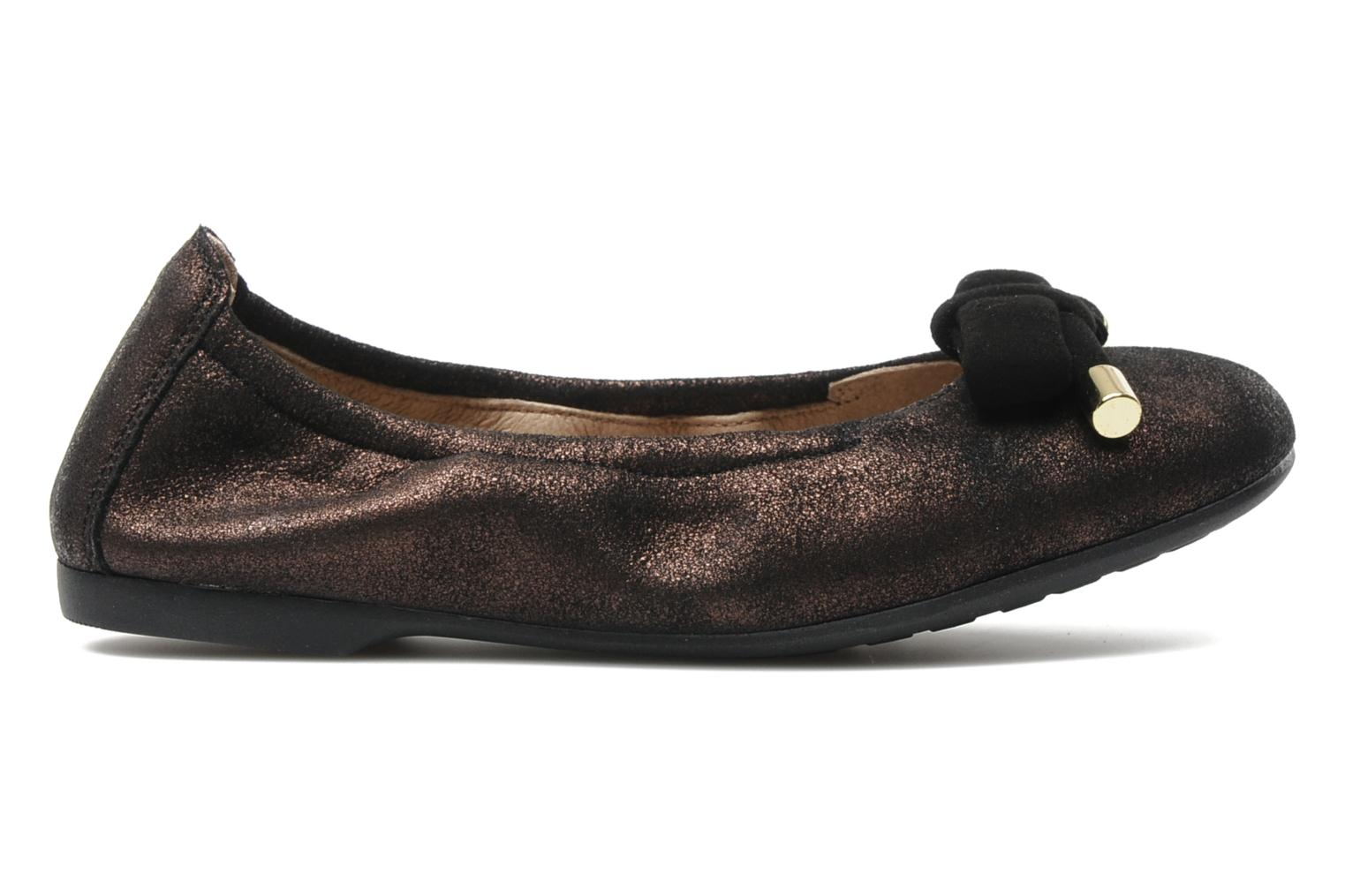 Ballet pumps Unisa Buffy Bronze and Gold back view