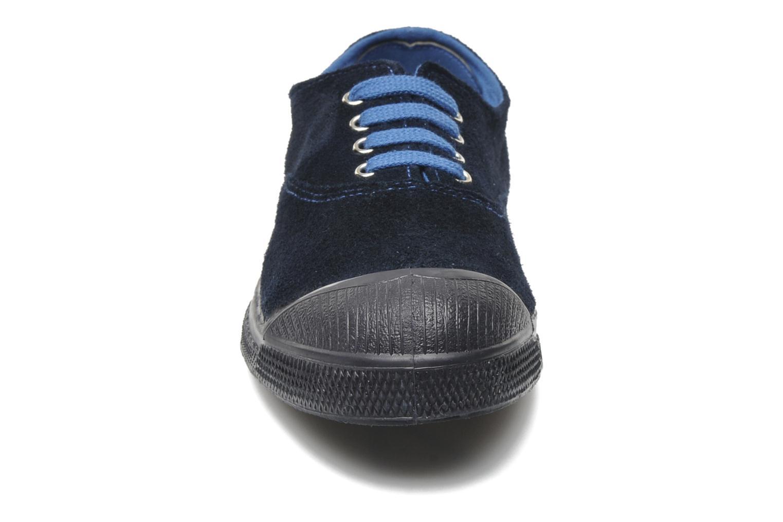 Baskets Bensimon Tennis Suedes Unies E Bleu vue portées chaussures