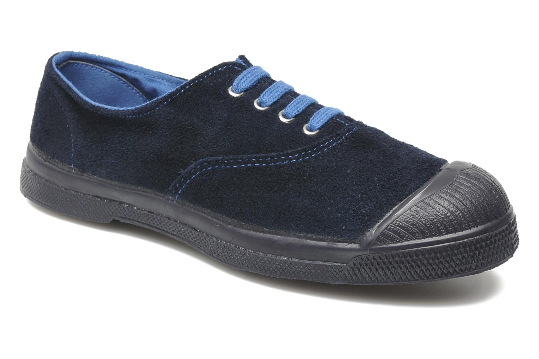 Sneakers Bensimon Tennis Suedes Unies E Blå detaljerad bild på paret