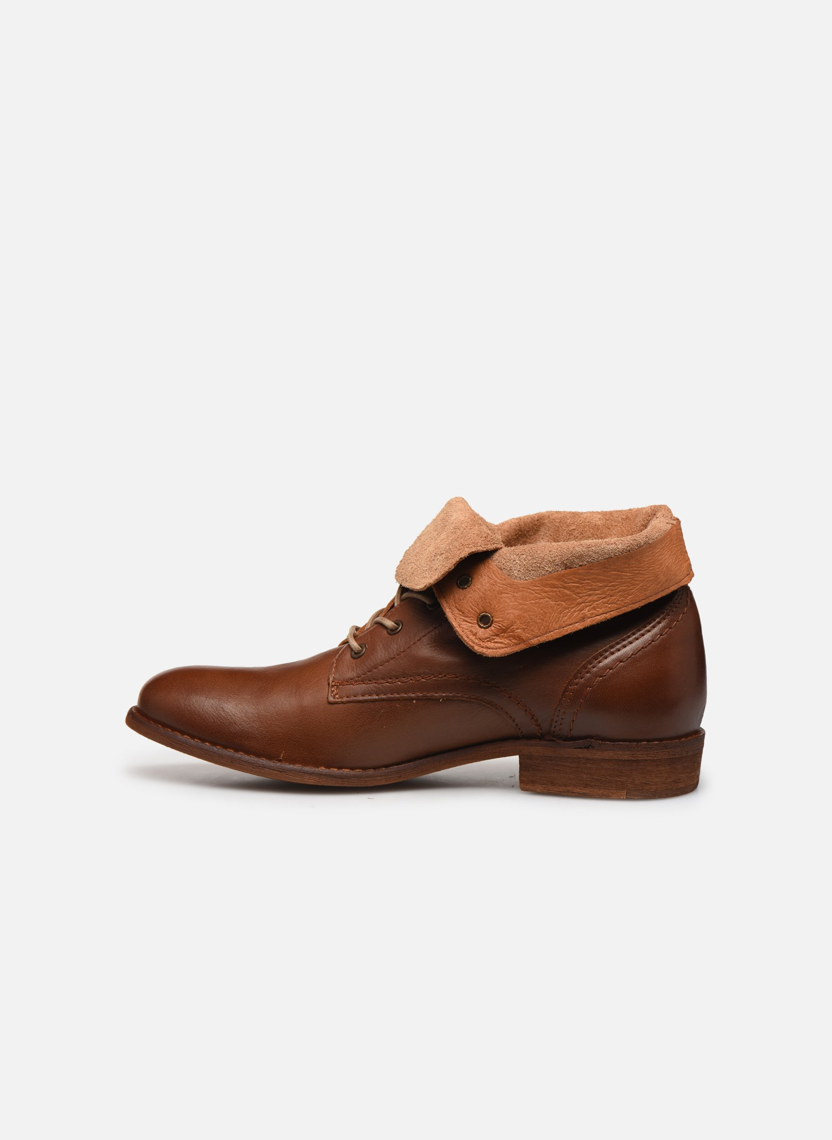 Stivaletti e tronchetti Mustang shoes Multa Marrone immagine frontale