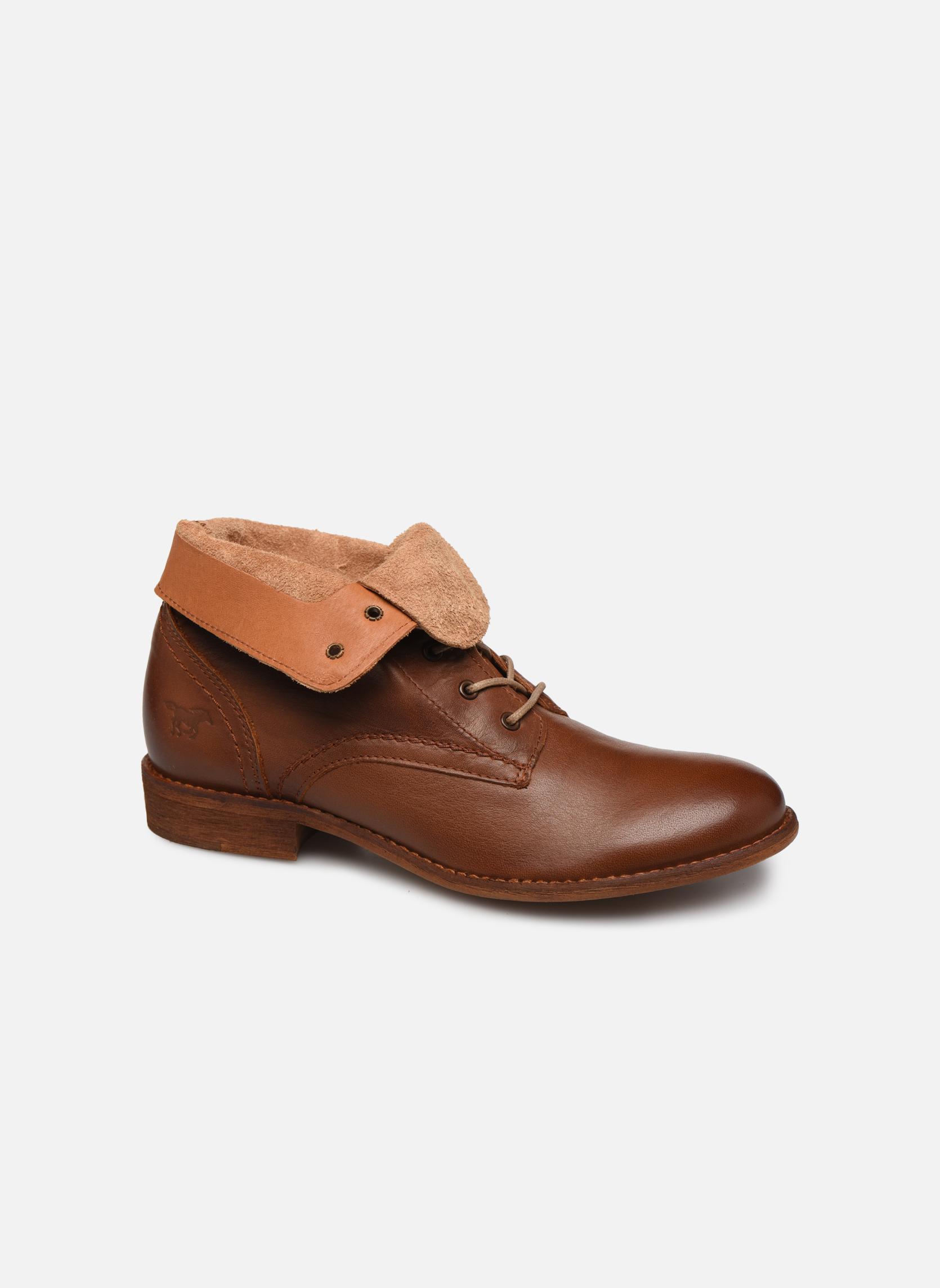 Bottines et boots Mustang shoes Multa Marron vue détail/paire