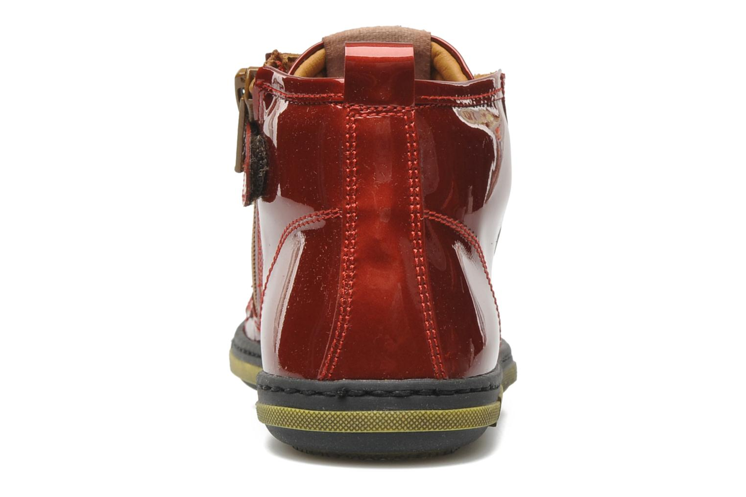 Sneakers Rondinella Nella 9671-4B Rood rechts