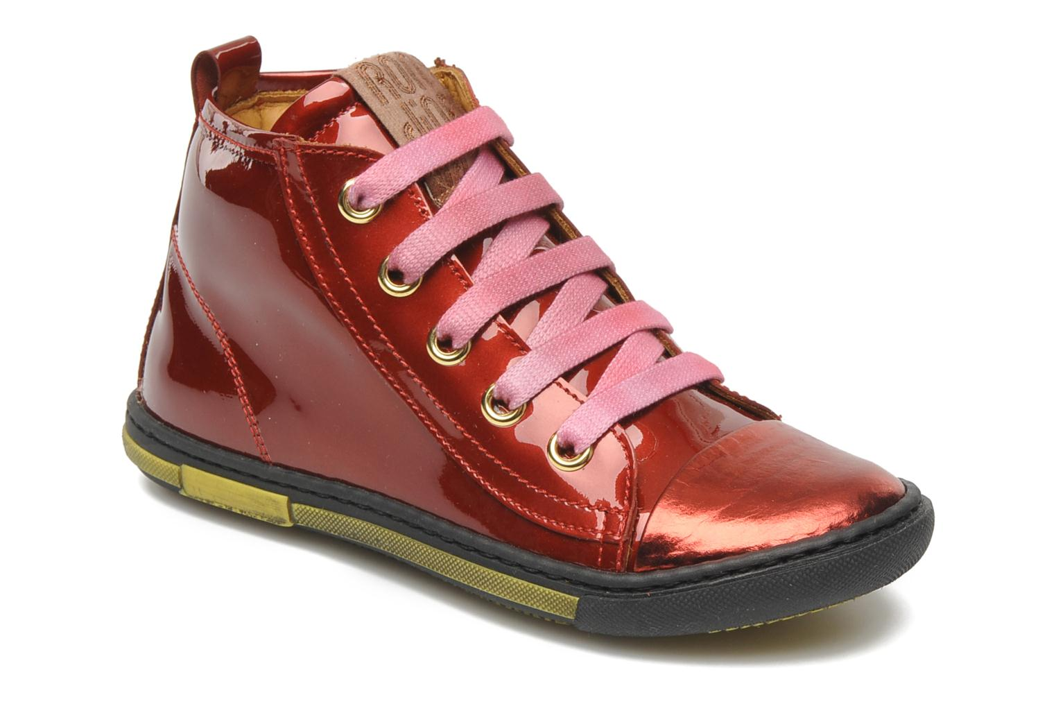 Sneakers Rondinella Nella 9671-4B Rood detail