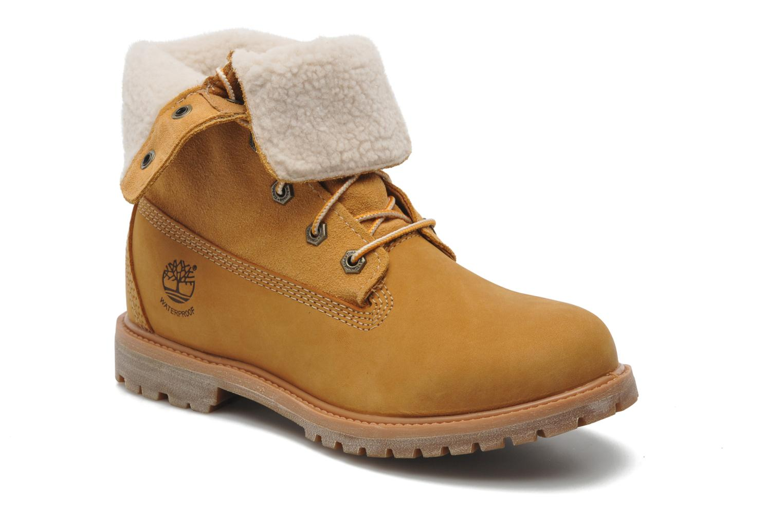 Bottines et boots Timberland Authentics Teddy Fleece WP Fold Down Beige vue 3/4