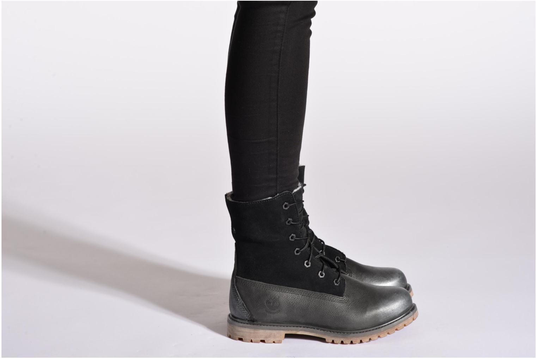 Bottines et boots Timberland Authentics Teddy Fleece WP Fold Down Beige vue bas / vue portée sac