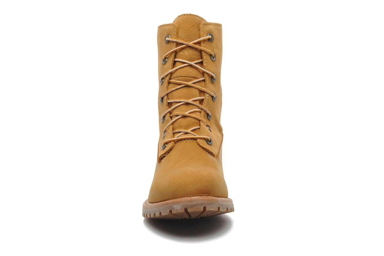 Bottines et boots Timberland Authentics Teddy Fleece WP Fold Down Beige vue portées chaussures