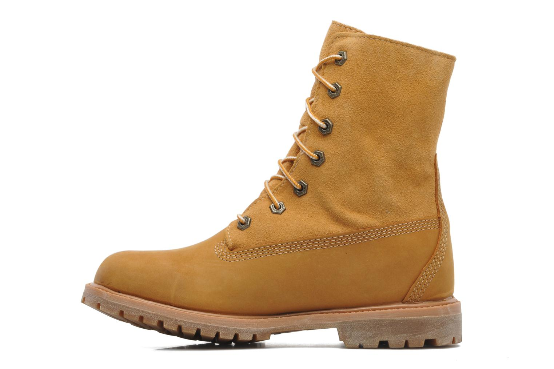 Bottines et boots Timberland Authentics Teddy Fleece WP Fold Down Beige vue face