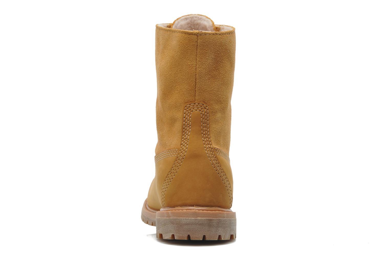 Bottines et boots Timberland Authentics Teddy Fleece WP Fold Down Beige vue droite