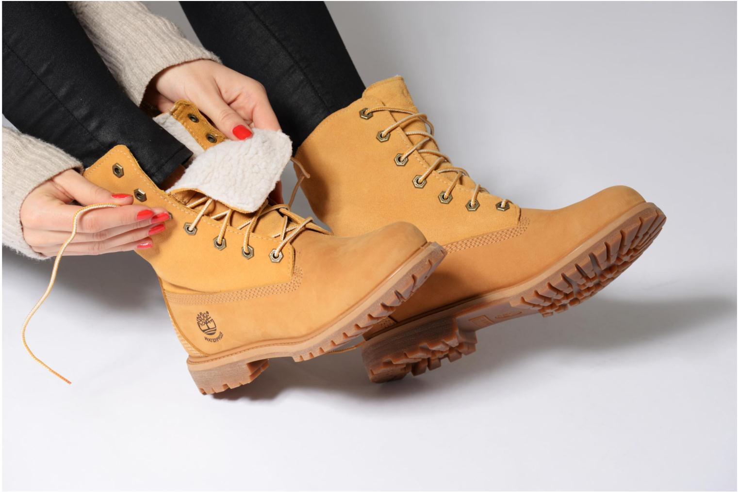 Ankle boots Timberland Authentics Teddy Fleece WP Fold Down Brown view from underneath / model view