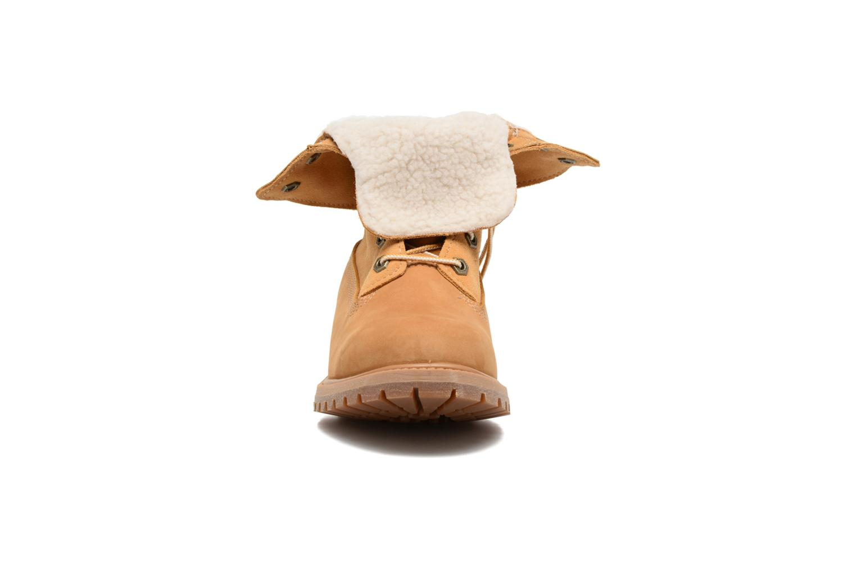 Botines  Timberland Authentics Teddy Fleece WP Fold Down Marrón vista del modelo