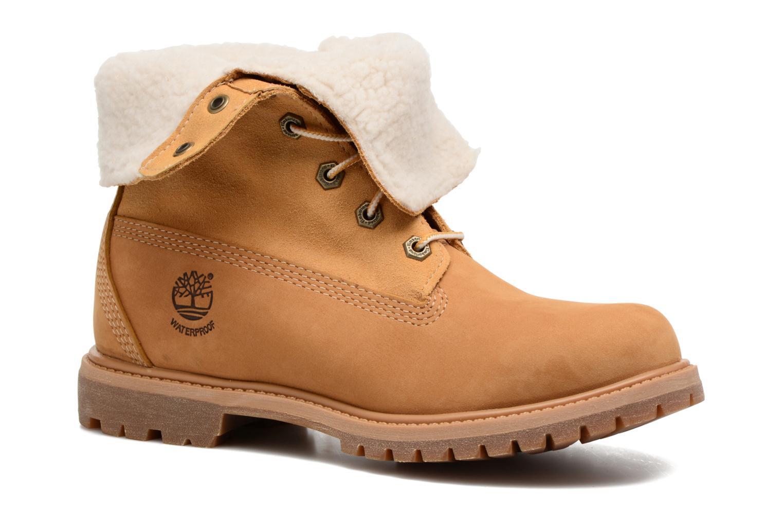 Bottines et boots Timberland Authentics Teddy Fleece WP Fold Down Marron vue détail/paire