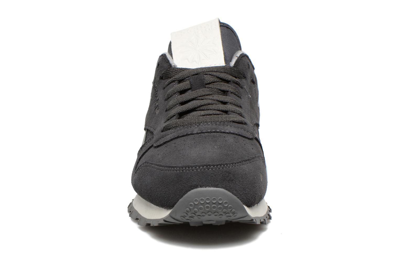 Sneaker Reebok Classic Leather Suede grau schuhe getragen