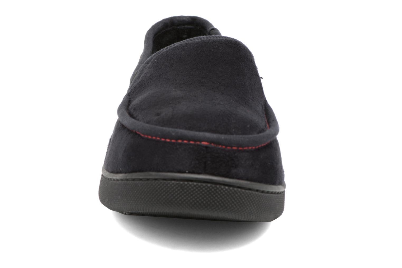 Chaussons Isotoner Mocassin Suédine M Noir vue portées chaussures