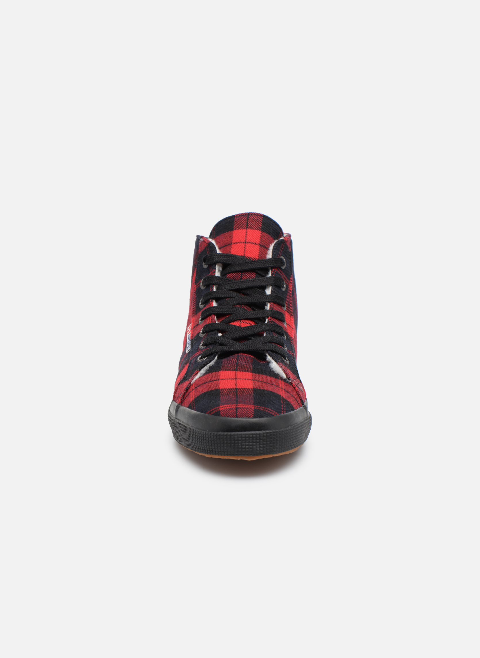 Baskets Superga 2095 TWEEDBINU Rouge vue portées chaussures