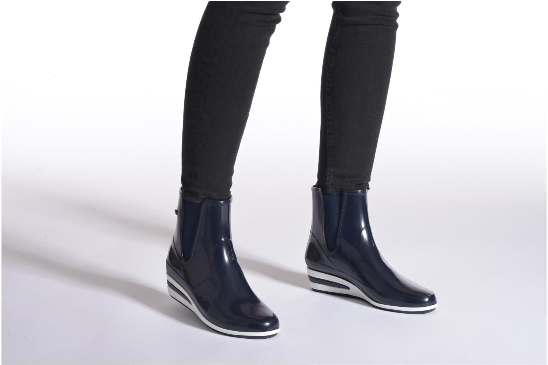 Bottines et boots Méduse Castic Violet vue bas / vue portée sac