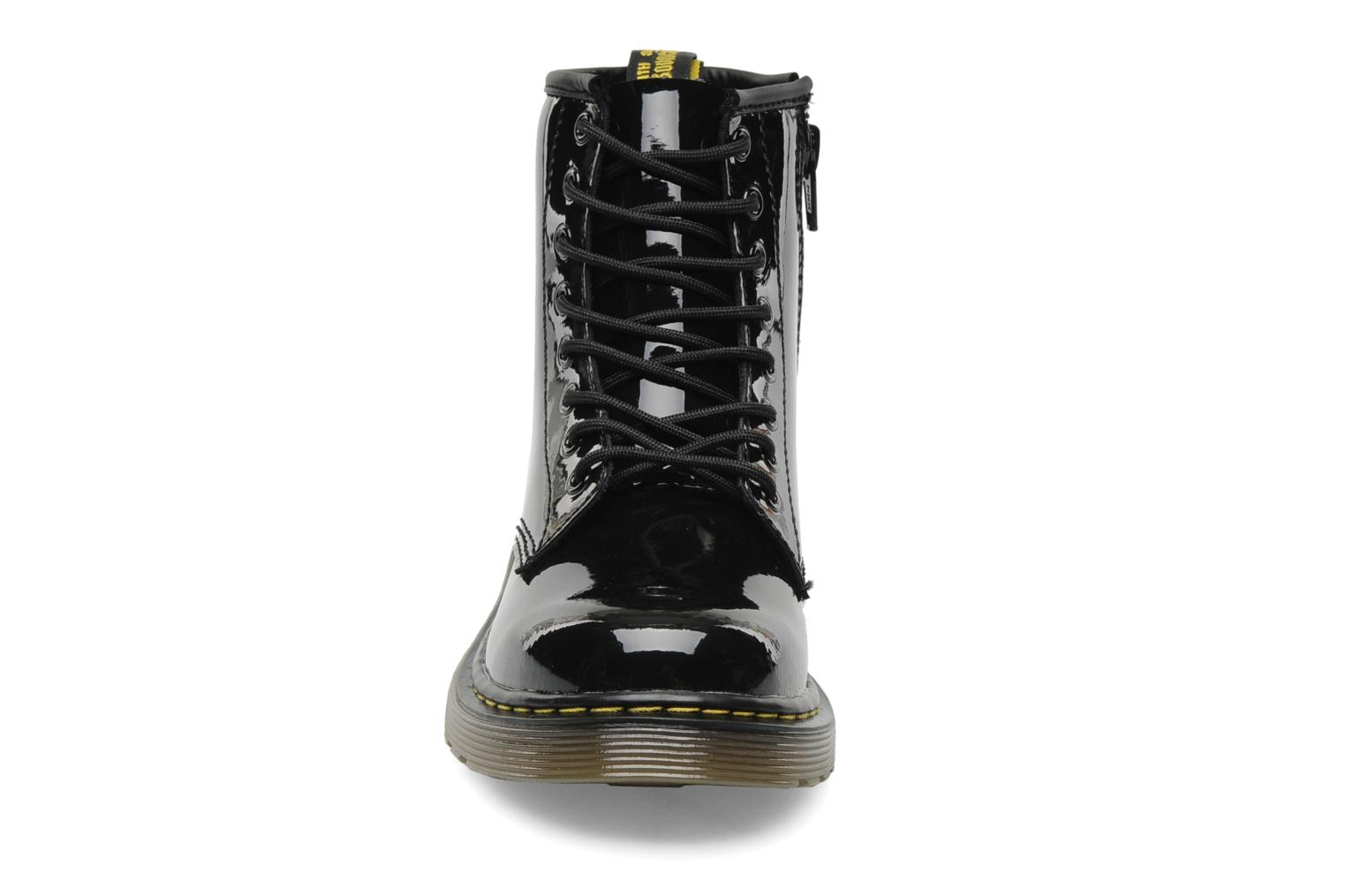 Juniors Delaney Lace boot Black Patent Lamper2