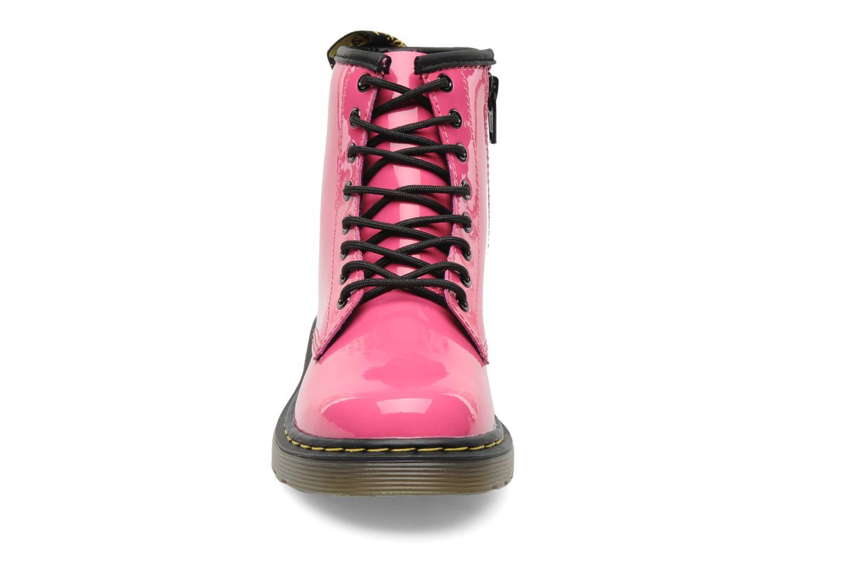 Bottines et boots Dr. Martens Juniors Delaney Lace boot Rose vue portées chaussures