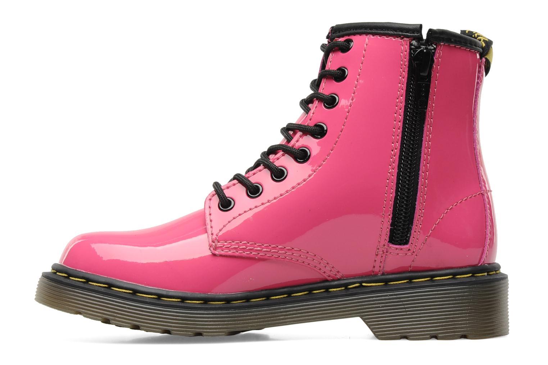 Bottines et boots Dr. Martens Juniors Delaney Lace boot Rose vue face