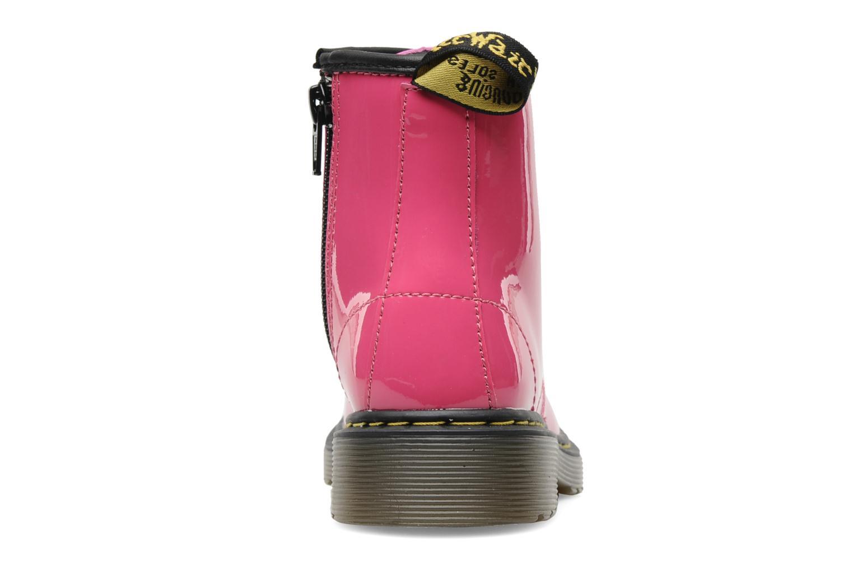 Bottines et boots Dr. Martens Juniors Delaney Lace boot Rose vue droite