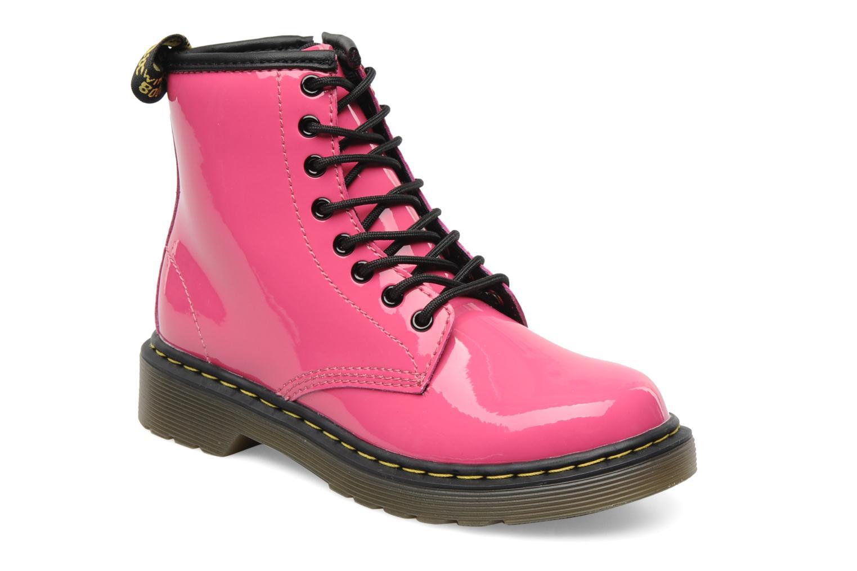 Bottines et boots Dr. Martens Juniors Delaney Lace boot Rose vue détail/paire