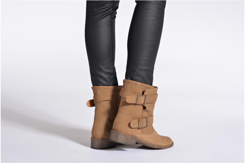 Bottines et boots Addict-Initial Chasuble Marron vue bas / vue portée sac