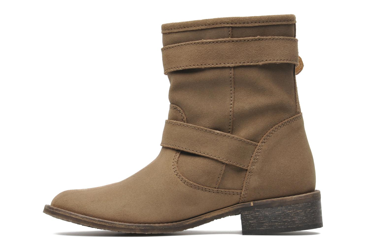 Ankle boots Addict-Initial Chasuble Brown front view