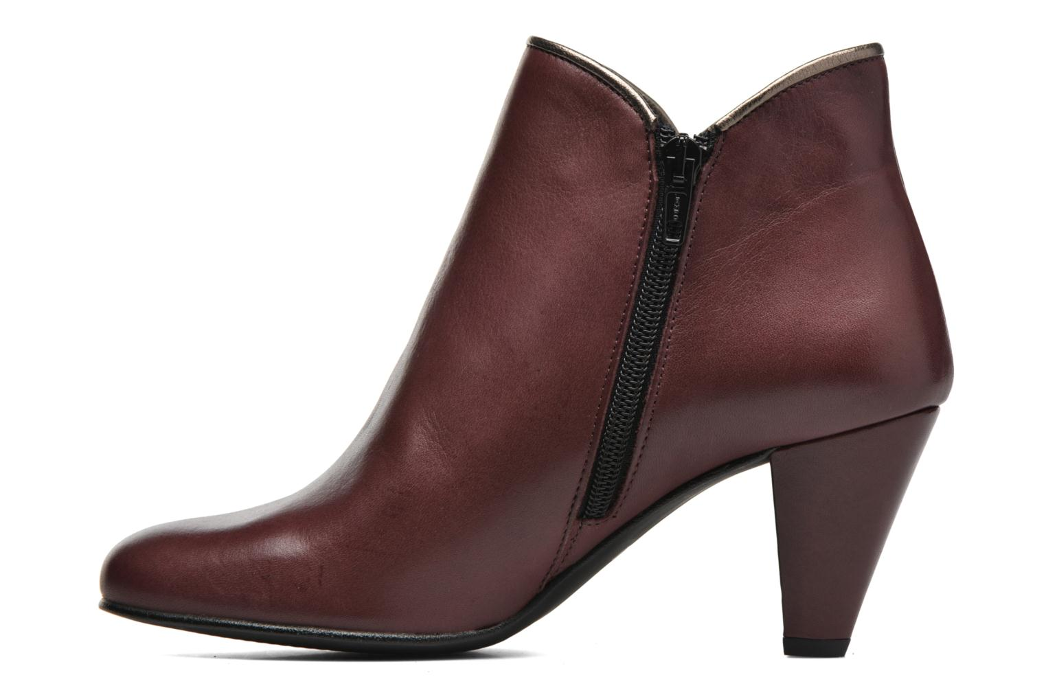 Ankle boots Georgia Rose Lagopède Burgundy front view